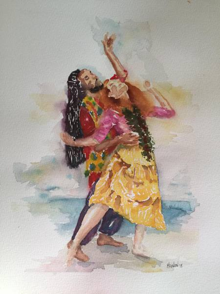 dance, London, Anne, Brian Bose, theater, oval house theater, UCSD, watercolor