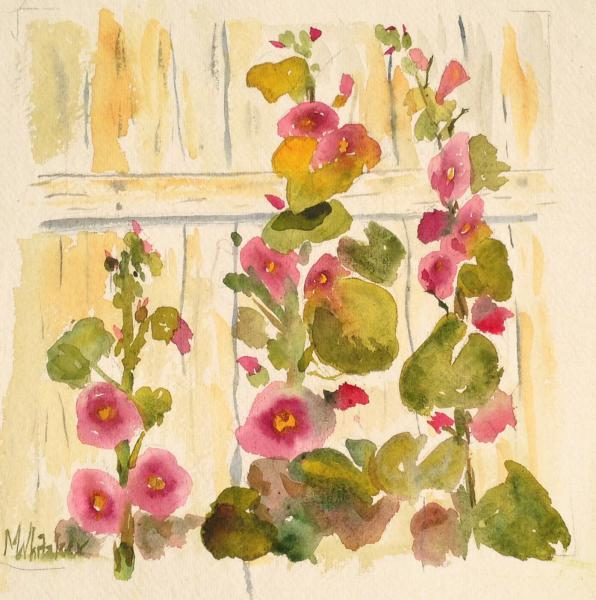 Janine's Hollyhocks